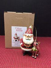 Jim Shore Rudolph Traditions Santa & Rudolph Anniversary Lit Ornament #4041650 N