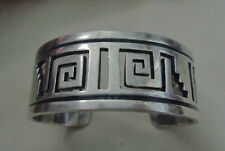 "Silver 69 Grams 1, 1/8"" Wide Taxco Mexico Vtg. Heavy Sterling Bracelet 970"