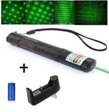 Ultra Puissant - Pointeur laser vert stroboscope 2 en 1-1mw- batterie + chargeur