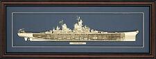 Wood Cutaway Model of USS Missouri (BB-63) - Made in the USA