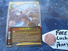 NARUTO CARD 800 The Hand of Pain RED GOLD GREEN