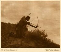 THE VANISHING RACE - THE LAST ARROW - GENUINE & AUTHENTIC - PHOTOGRAVURE 50