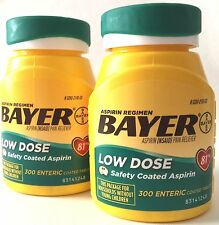 BAYER LOW DOSE 81mg ASPIRIN REGIMEN TABLETS 2x300 (600) ENTERIC COATED EX 12/19+