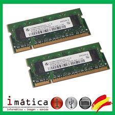 2 X MEMORIA RAM INFINEON DDR2 1GB 2X512MB  PC2 PC2-4200S-444-11-A0 HYS64T64020HD