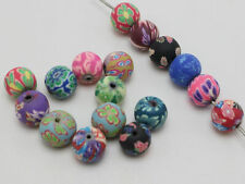 """50 Mixed Colour Polymer Clay Round Beads 10mm (3/8"""") Jewelry Finding"""
