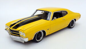 ACME 1/18 Scale A1805515 - 1970 Chevrolet Chevelle Street Fighter Yellow/Black