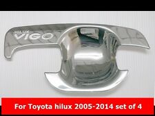 CHROME BOWL HANDLE INSERT COVER TRIM FOR TOYOTA HILUX 2005-2014 DOUBLE CAB
