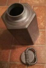 Kanne mit Drehverschluss zinn Antik Antiquität zinn antique tin can + lid