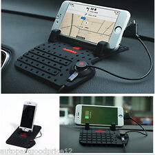 Car Holder Dashboard Stand USB Mount Charger Cradle Non-Slip Pad for Phone CA