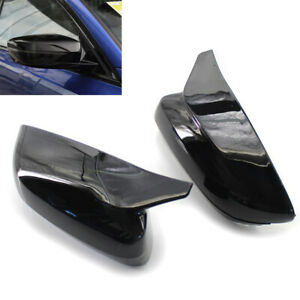 2x Gloss Black Side Mirror Covers For BMW 3 5 7 Series G30 G38 G20 G28 G11 G12