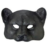 Adult Jungle Zoo Animal Halloween Costume Black Panther Leopard Cat Face Mask
