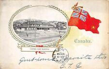 COPPER CLIFF, ONTARIO, CANADA, TOWN HOSPITAL, CANADIAN FLAG, used 1905