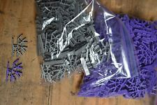 K'Nex Knex Gray & Purple Connector 4- Position Bulk Replacement Parts Lot 175