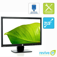 "HP ProDisplay P221 21.5"" Widescreen 1920x1080 LED LCD Monitor VGA DVI Grade B"