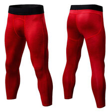 Mens Compression 3/4 Pants Gym Workout Shorts Sports Base Layers Tights S-3XL