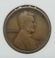 1915 S San Francisco Mint Copper Lincoln Wheat Cent