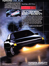 """1988 Toyota Celica All-Trac Turbo photo """"All-Wheel Excitement"""" vintage print ad"""