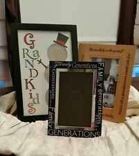 Picture Frames LOVING FAMILY Set of Three Great for Grandparents Free Shipping!