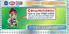 2011 LIMITED GENUINE TEAMCOACH PRIZE CARD CERTIFICATE