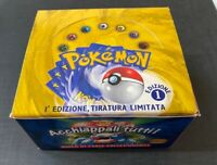 Pokemon Booster Box Italian Set Base 1st Edition VUOTO - EMPTY