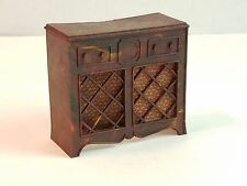 Vtg Renwal Dollhouse Doll House Furniture Stereo Radio Vinyl Record Cabinet Box