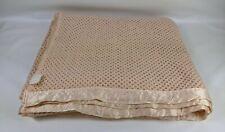 Vintage Double Lightweight Honeycomb Peach Blanket 230x240 cm Satin Effect Trim