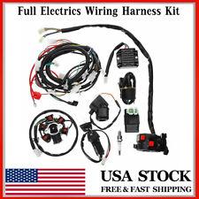 Full Electrics Wiring Harness Loom CDI Coil For GY6 150CC ATV Quad Go Kart US ❤