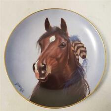 "= Danbury Mint Shining Spirit A Heritage Of Horses 8"" Plate 1993 Derk Hansen"