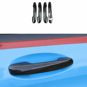 For Benz C-Class 2015-2021 ABS Carbon Fiber Door Handle Cover With Smart Hole 5X