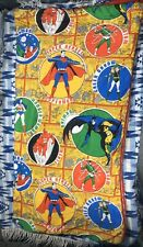 Vtg 1975 DC Comics Superheroes SLEEPING BAG Superman Wonder Woman Batman Aquaman