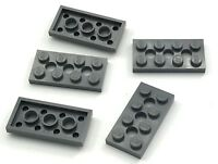 Lego Lot of 5 New Dark Bluish Gray Technic Plates 2 x 4 with 3 Holes Pieces