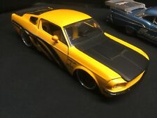 JADA BIG TIME MUSCLE 1967 SHELBY GT 500KR YELLOW 1/24 SCALE DIECAST  Free Ship