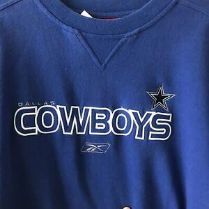 Vintage Reebok Dallas Cowboys  USA NFL Crewneck Large Embroidered Logo