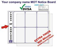 MOT SIGNS | MOT SIGN | YOUR GARAGE NAME MOT NOTICE BOARD | VOSA | DVSA APPROVED