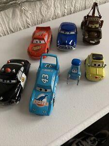 7 Disney Cars Diecast Bundle Lightning McQueen Tow Mater