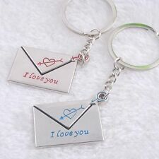 Lettering Gift Fashion Couple I Love You Lovers Envelope Key Ring Key Chain