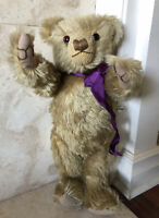 """Merrythought 19"""" Large Teddy Bear Mohair Limited Edition Vintage Tags"""