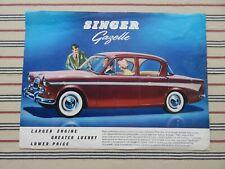 SINGER GAZELLE SERIES IIIC brochure (UK) July 1961 (811/H 1/761/40) leaflet