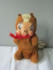 Vintage Rushton Rubber Face Chipmunk Plush Stuffed Animal