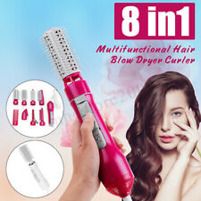 8-in-1 Professional Salon Hair Blow Dryer&Volumizer Roller Curler Hot Comb Brush