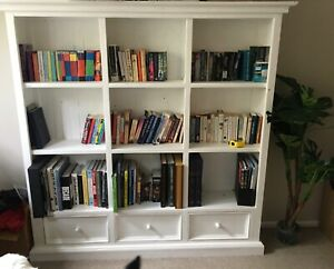 White Early Settler solid bookcase used