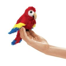 Scarlet Macaw Finger Puppet with Red, Yellow & Blue Wings, Folkmanis MPN 2723