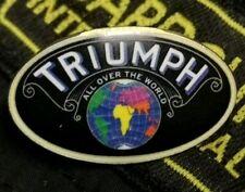 New Barbour Metal Pin Badge Triumph Motorcycle Car Coat Jacket Brand World