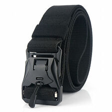 Men Quick Release Buckle Military Trouser Belt Army Cobra Tactical Nylon Webbing