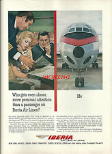 Publicité 1965 Iberia Air Lines aéronautique avion aviation réclame advertising