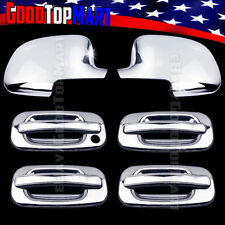 For GMC SIERRA 1999-2004 2005 2006 Chrome Covers Set Full Mirrors+4 Doors w/o PK