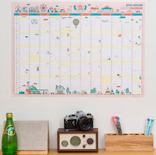 "2018 Ardium Urban 365 Days 23""x17"" Wall Paper Calendar Cute Scheduler Memo Note"