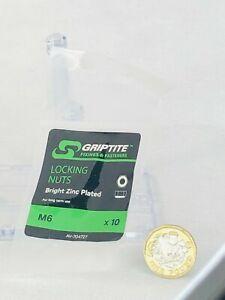 WING NUTS M5 X5 Griptite New Bright Zinc Plated