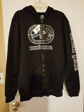 Men's Ecko Unltd Full Zip Front Hooded Sweatshirt Black Size L