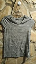 Justice Girls Knit V-Neck Tee-Shirt Top  Size 14 Gray